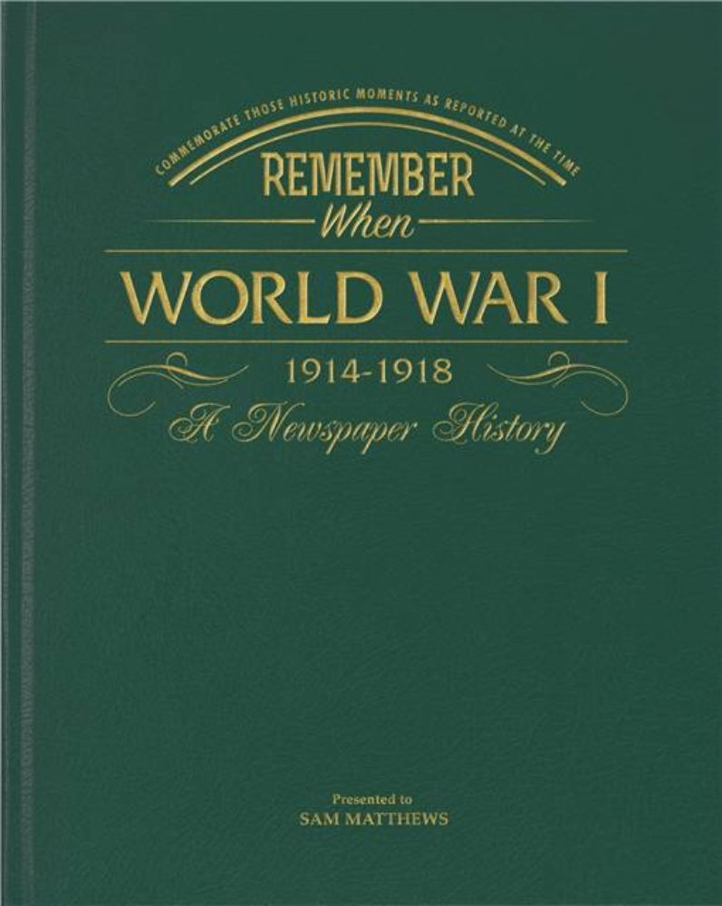Newspaper WW1 Book - Leatherette Cover product image