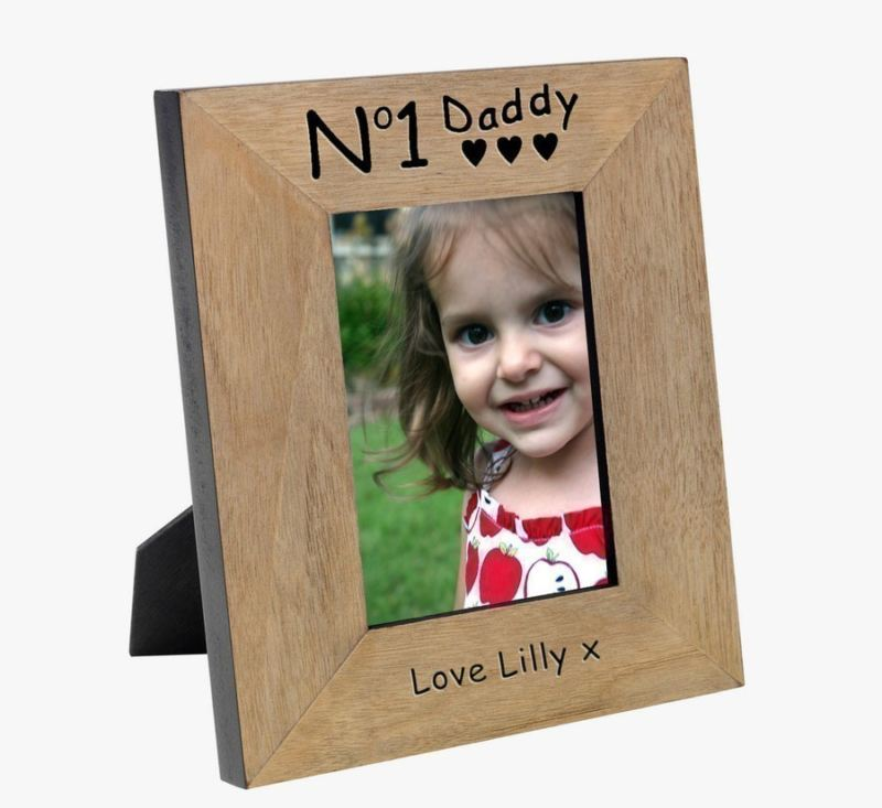 No 1 Daddy Wood Photo Frame 6 x 4 product image