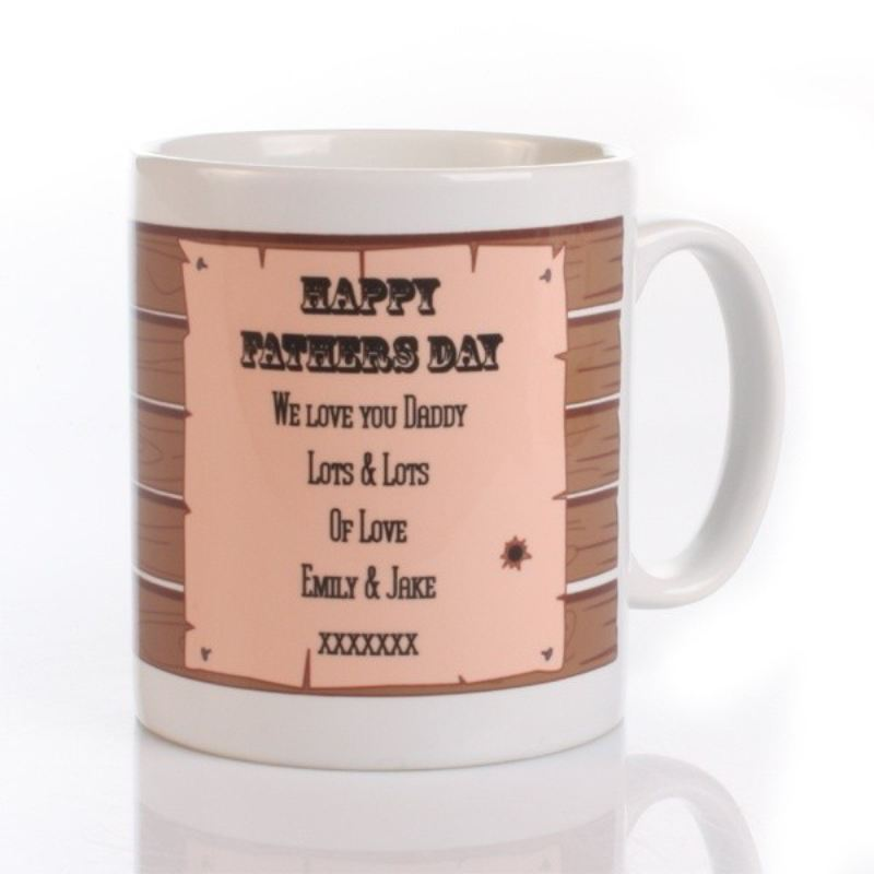 No.1 Daddy Personalised Sheriff Mug product image