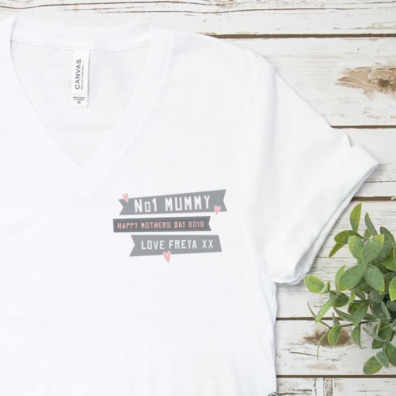 Number 1 Mum - Personalised Mother's Day T-shirt product image