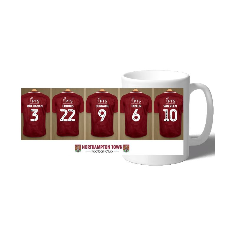 Personalised Northampton Town FC Dressing Room Mug product image