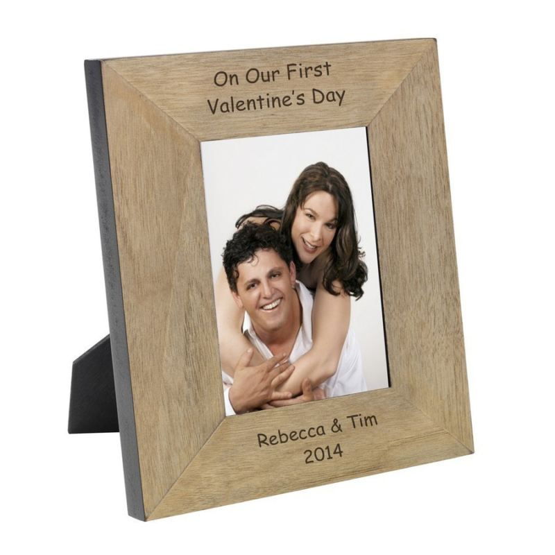 On Our First Valentine's Day Wood Photo Frame 6 x 4 product image