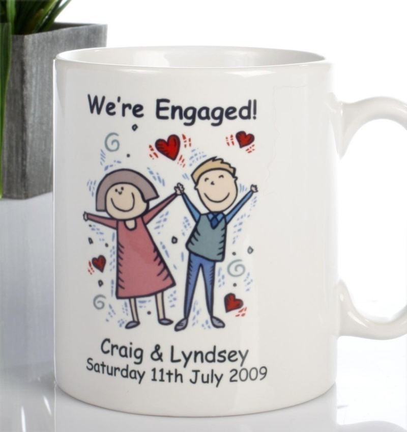 On Your Engagement Personalised Mug product image