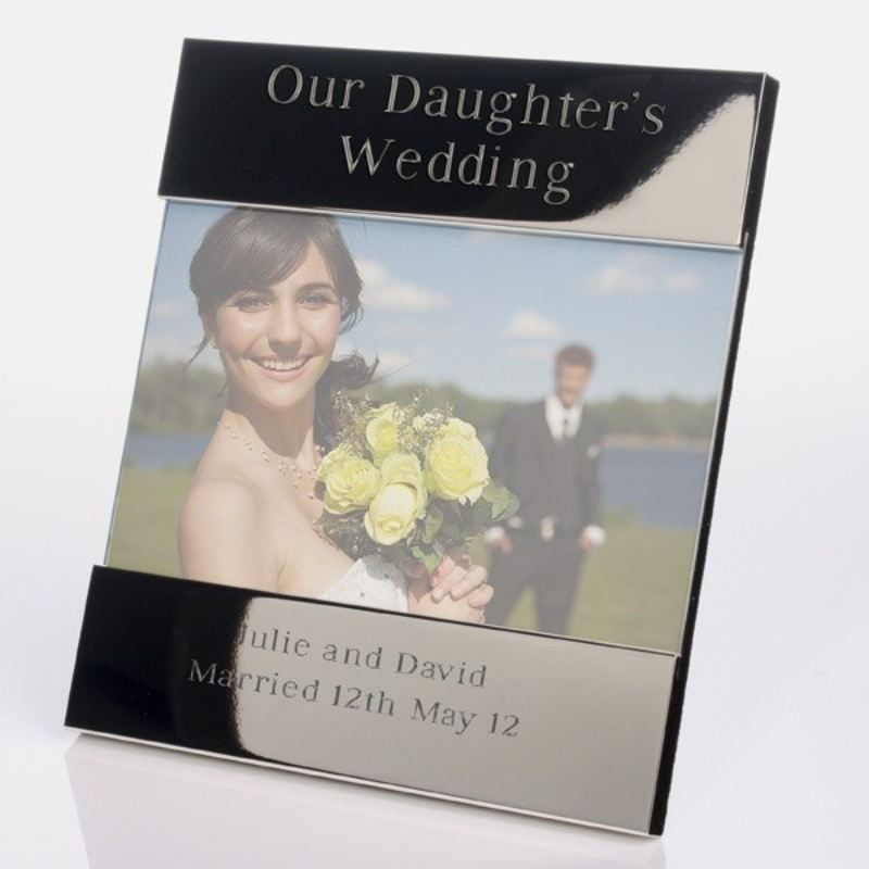 Our Daughter's Wedding Shiny Silver Photo Frame product image