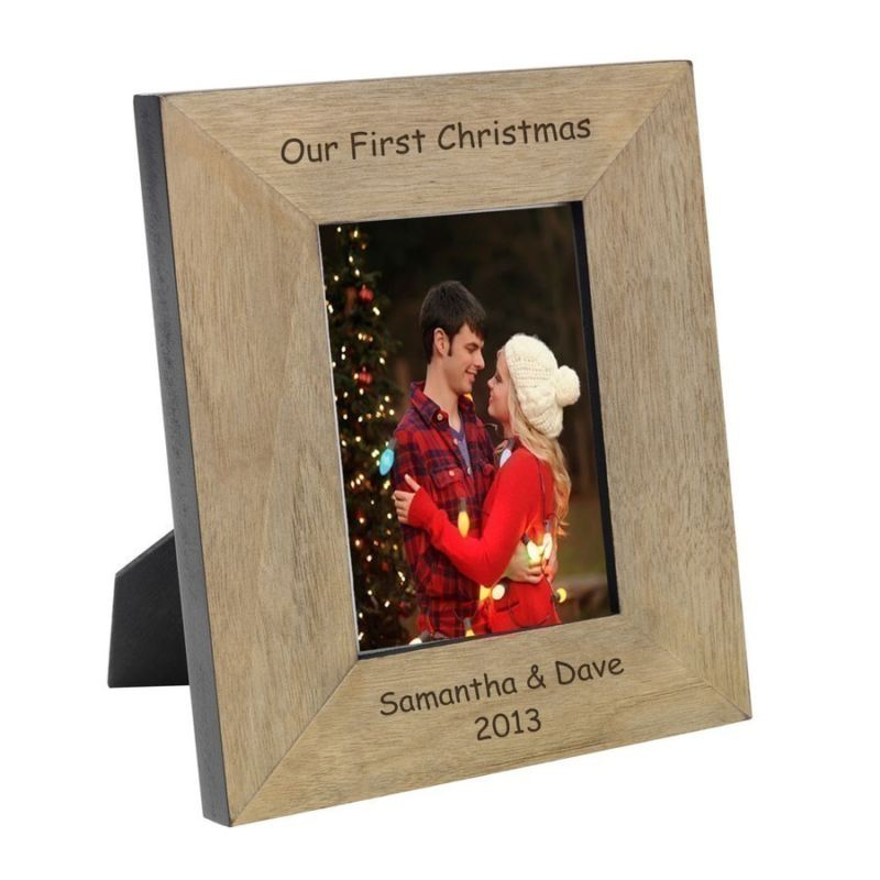 Our First Christmas Engraved Wood Frame 6 x 4 product image