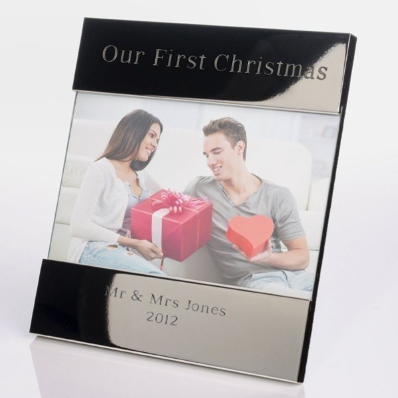 Our First Christmas Shiny Silver Photo Frame product image