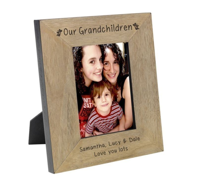 Our Grandchildren Wood Frame 6 x 4 product image
