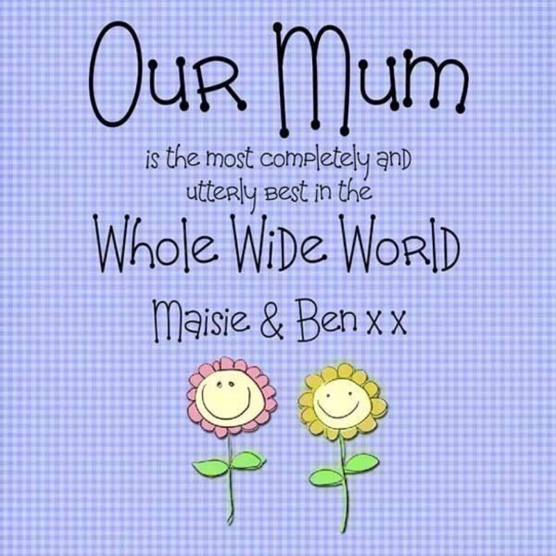Our Mum Personalised Canvas Print product image