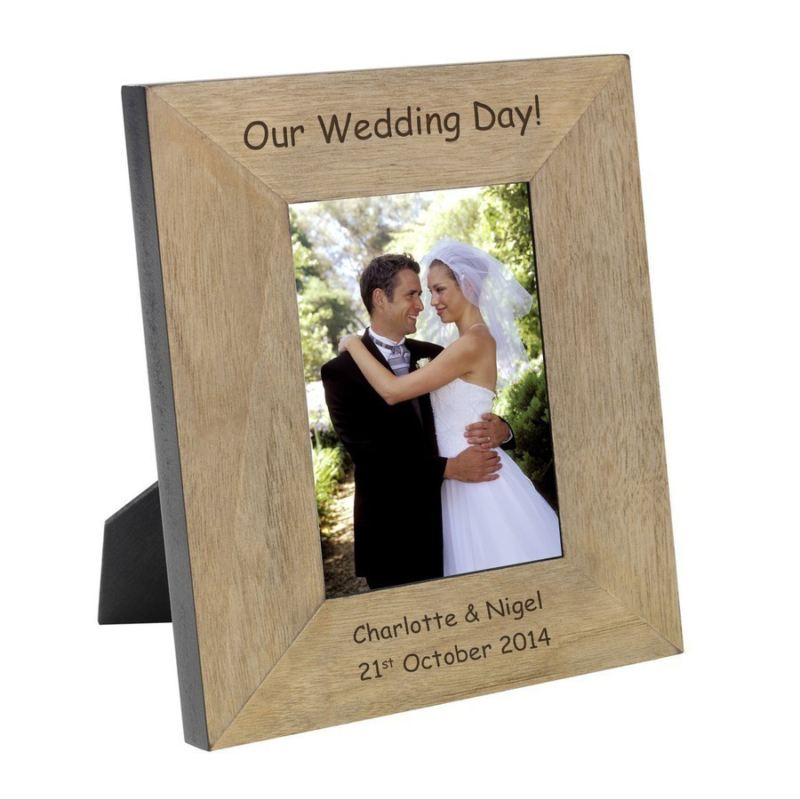 Our Wedding Day Wood Photo Frame 6 x 4 product image