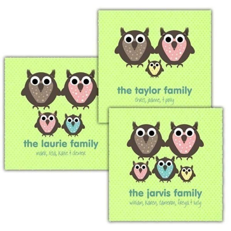Owl Family Personalised Canvas product image