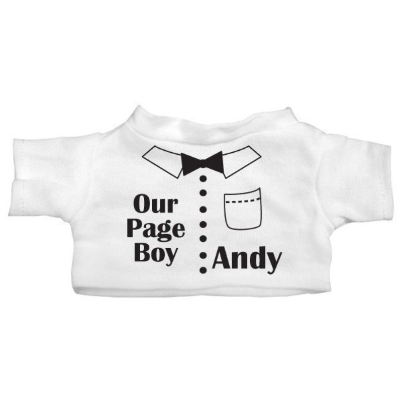 Page Boy Personalised Teddy Bear product image