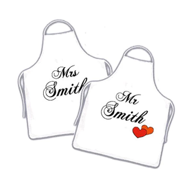 Pair Of Mr & Mrs Aprons product image