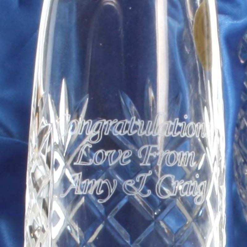 Pair of Personalised Crystal Champagne Flutes product image
