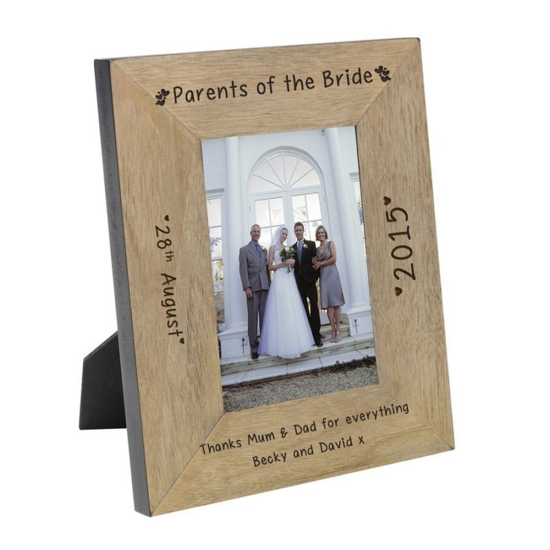 Parents Of The Bride Wood Frame 6 X 4 The Personalised Gift Shop