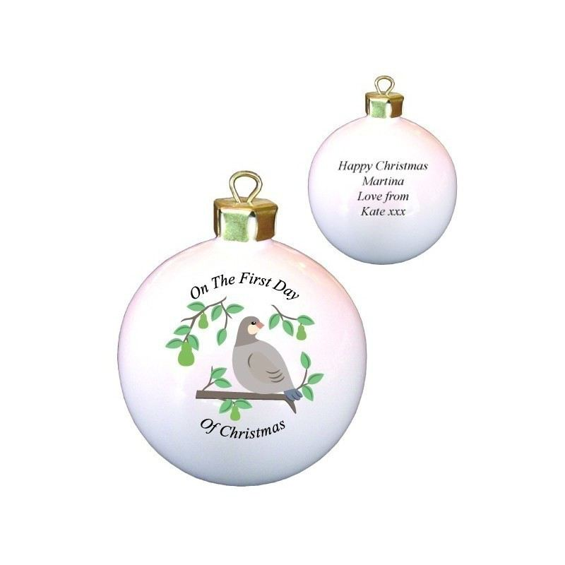 Partridge in a Pear Tree Bone China Bauble product image