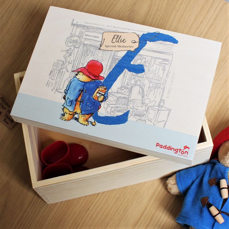 Paddington Bear Personalised Initial Memory Box product image