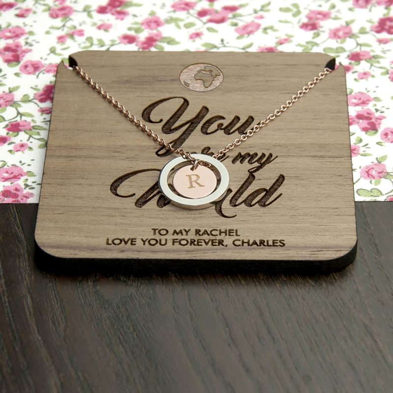 Personalised My World Necklace & Keepsake product image