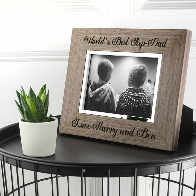 World's Best Step Dad Wooden Frame product image