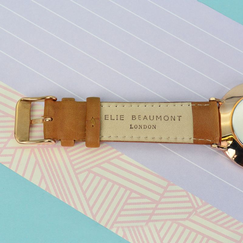 Modern - Vintage Personalised Leather Watch in Camel product image