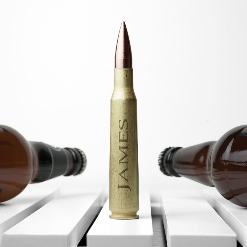 Personalised 50 Calibre Bullet Shell Beer Opener product image