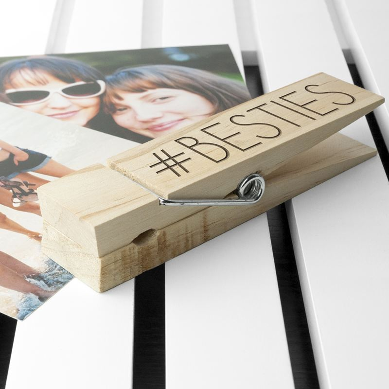 Personalised Wooden Peg Photo Holder product image