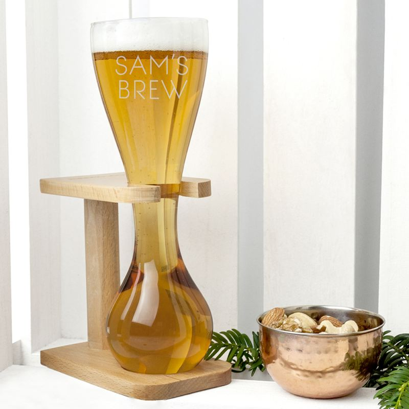 Personalised Quarter Yard Ale Glass product image