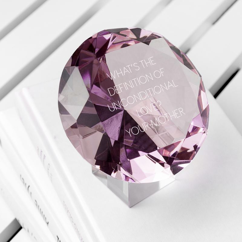 Personalised Pink Diamond Paperweight product image