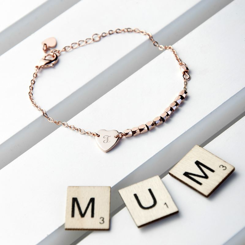 Personalised Heart Charm Bracelet product image