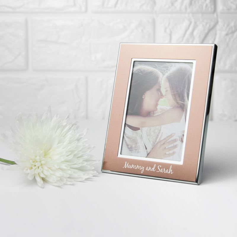Personalised Small Rose Gold Metal Photo Frame product image