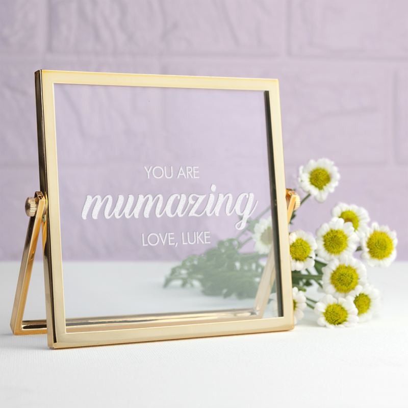 Engraved Mumazing Gold Frame product image