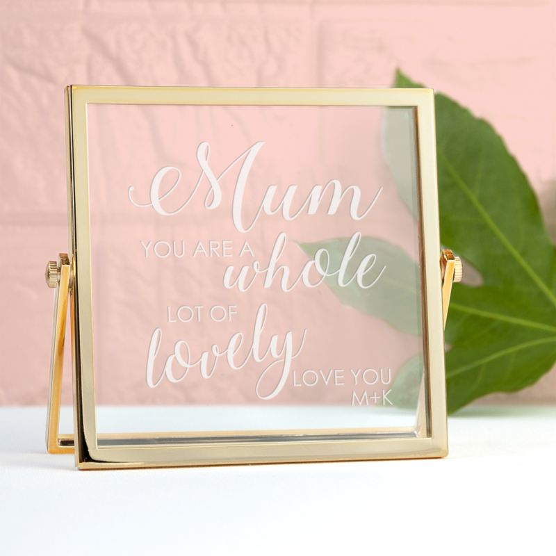 Engraved Mum You're Lovely Gold Frame product image