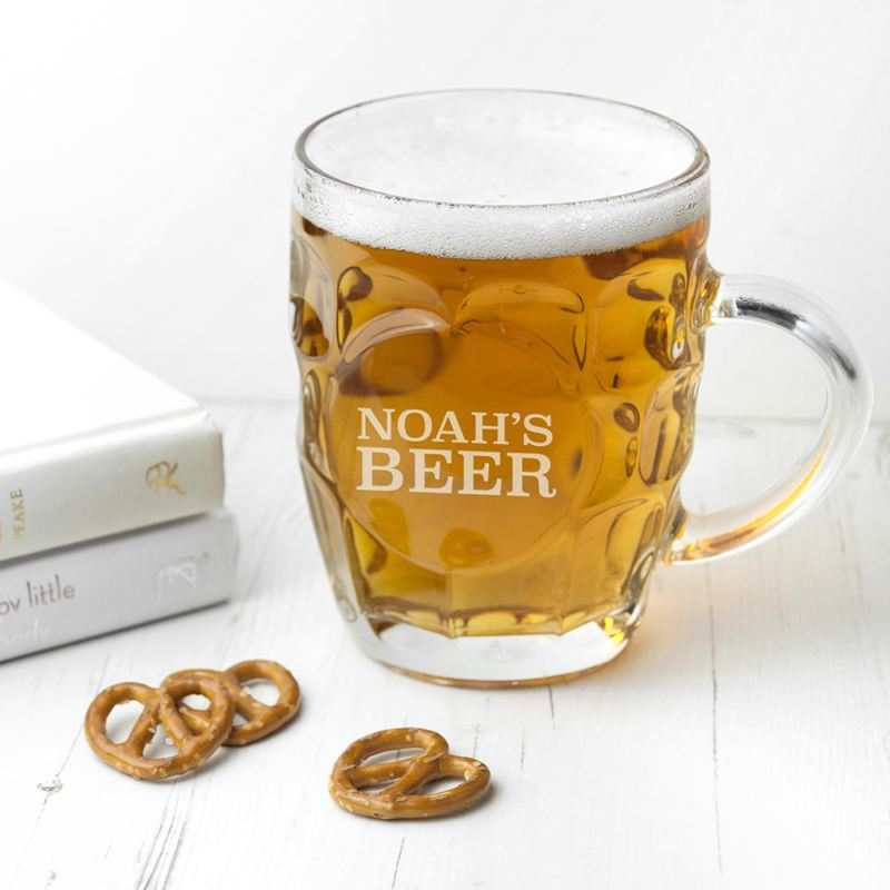 Personalised Dimpled Beer Glass product image