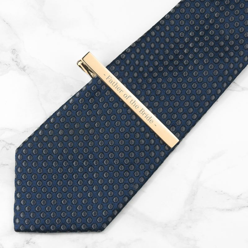 Personalised Gold Plated Tie Clip product image