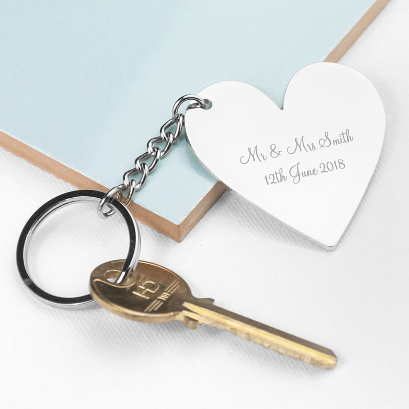 Personalised Heart Key Ring product image