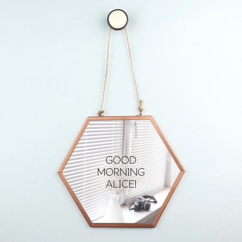 Personalised Hexagon Copper Mirror product image