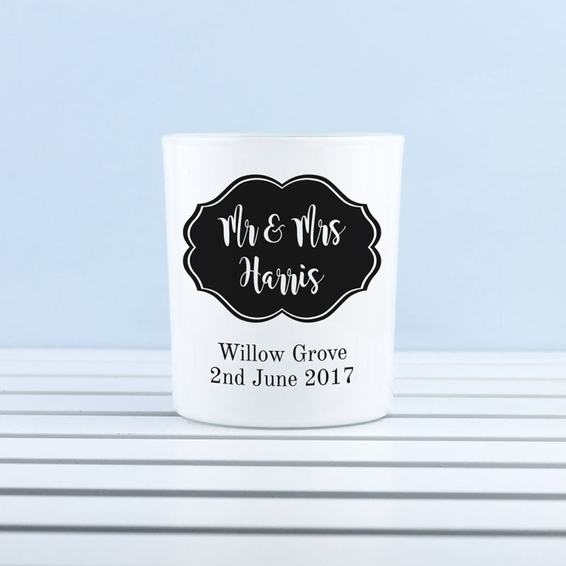Personalised Classic Mr & Mrs Tealight Holder product image