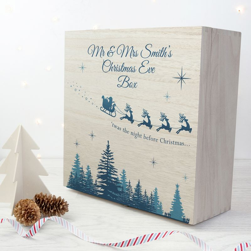Personalised T'was The Night Before Christmas Wooden Box product image