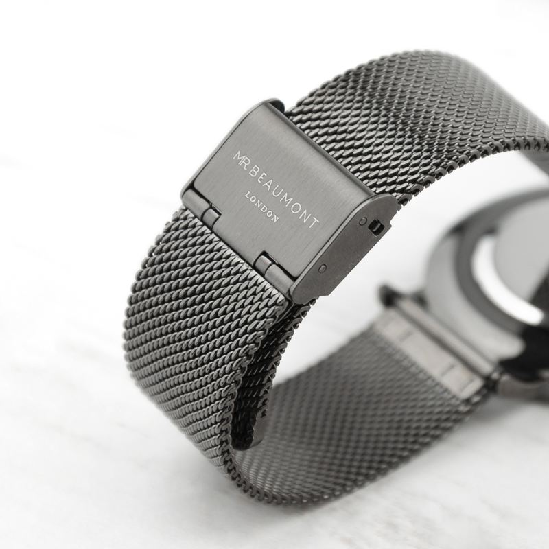 Personalised Men's Metallic Charcoal Grey Watch product image