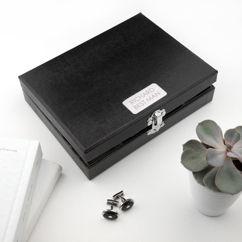 Personalised 12 Compartment Cufflink Box product image