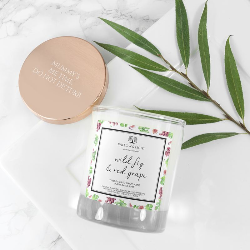 Personalised Wild Fig & Red Grape Candle With Copper Lid product image