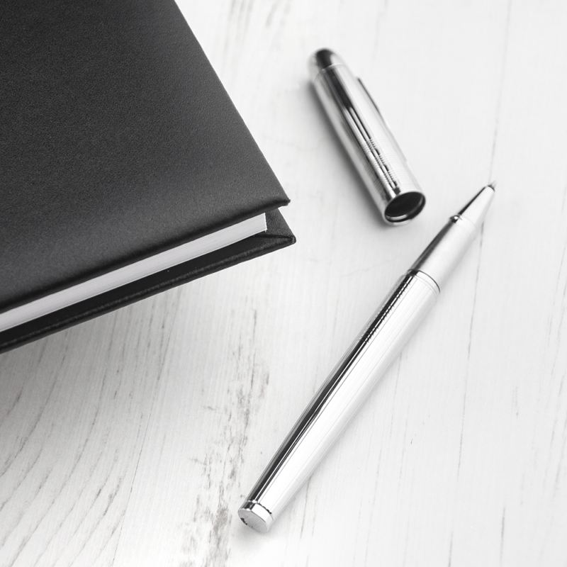 Personalised Black Leather Visitors Book product image