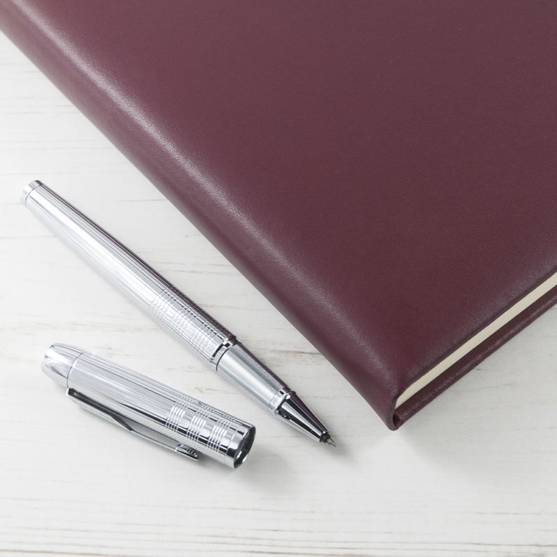 Personalised Burgundy Leather Notebook product image