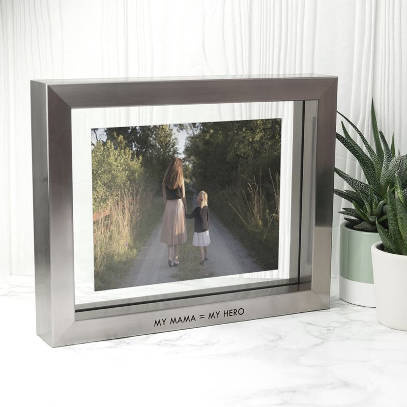 Personalised Metallic Grey Photo Frame product image