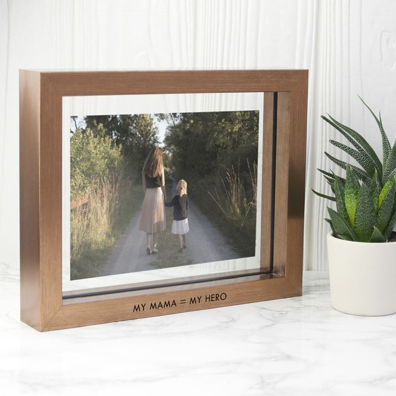 Personalised Metallic Copper Toned Photo Frame product image