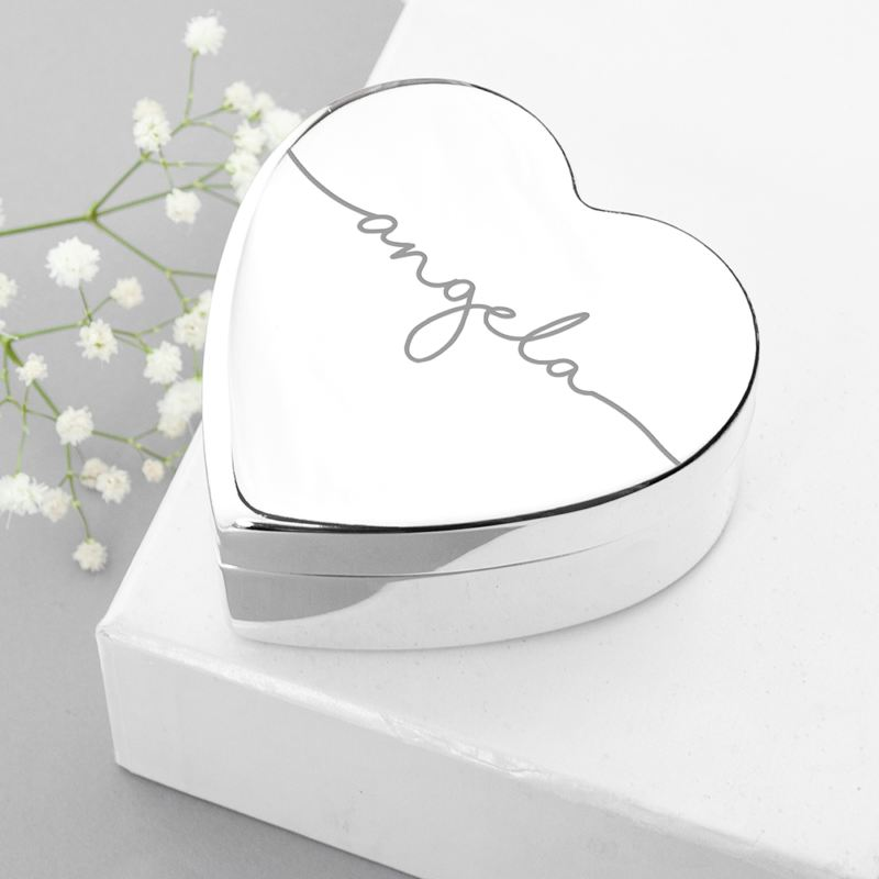 Personalised Heart Trinket Box product image