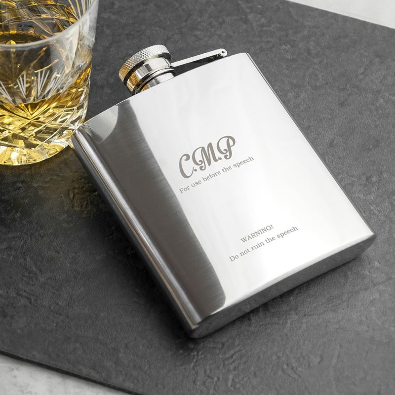 Best Man The Speech Hip Flask product image