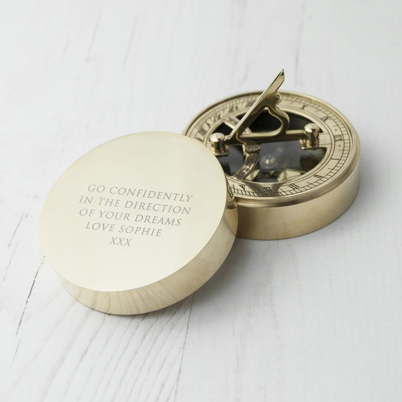 Adventurer's Brass Sundial and Compass product image