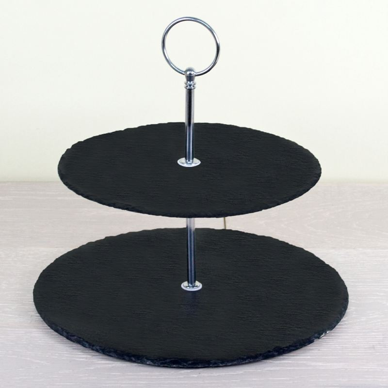 Personalised Two Tiered Slate Cake Stand product image