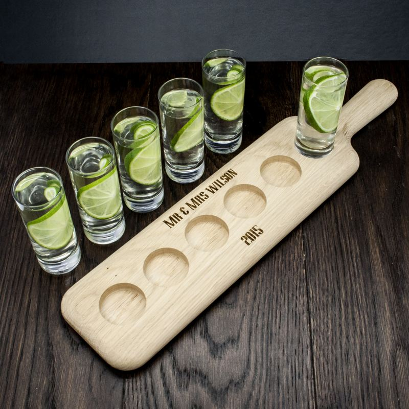 Personalised LSA Shot Glass Paddle Set product image