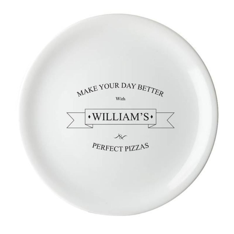 Personalised Perfect Pizza Ceramic Pizza Plate product image